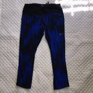 Blue and black Nike Dri-Fit leggings